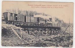 Transsibirische Eisenbahn - Brücke über Den Fluss Soldatka               (A-97-161002) - Trains