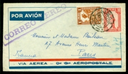 Peru 1934 Airmail Cover To Paris - Peru
