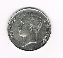 //  BELGIE ALBERT I  1 FRANK 1912  FR  ZILVER - 1909-1934: Albert I