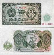 Bulgaria 1951 - 3 Leva - Pick 81 UNC - Bulgaria
