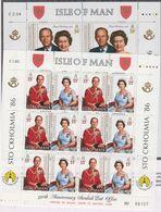 Isle Of Man 1986 Royal Birthdays 3v In 2 Sheetlets ** Mnh (43504) - Man (Eiland)