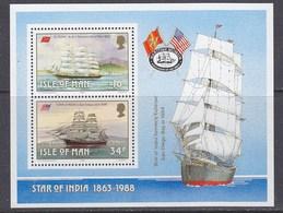 Isle Of Man 1988 Manx Sailing Ships M/s ** Mnh (43505) - Man (Eiland)