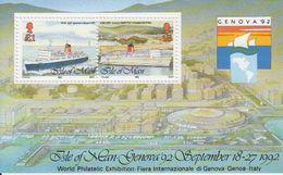 Isle Of Man 1992 Genova 92 / Ships M/s ** Mnh (43505A) - Man (Eiland)