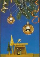 BUON NATALE - COMPOSIZIONE - EDIZ. POLACCA - VIAGGIATA 1988 FRANCOBOLLO ASPORTATO - Non Classificati