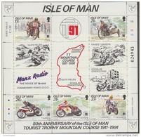 "Isle Of Man 1991 ""Tourist Trophy"" Motorcycling M/s ** Mnh (43505D) - Man (Eiland)"