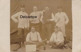 CP Photo : : Prisonniers De Guerre - Camp De Hammelbburg ( Bavière ) - 4è Cie Française Du Camp - 1915 - Guerre, Militaire