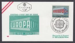 Europa CEPT - FDC 1969 - Österreich Austria - MiNr. 1291 (B) - Europa-CEPT