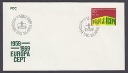 Europa CEPT - FDC 1969 - Liechtenstein - MiNr. 507 (B) - Europa-CEPT