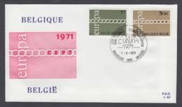 Europa CEPT - FDC 1971 - Belgien Belgium - MiNr. 1633-1634 (B) - Europa-CEPT
