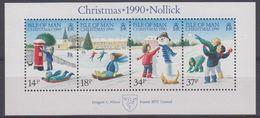Isle Of Man 1990 Christmas Sheetlet ** Mnh (43505E) - Man (Eiland)