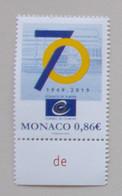 Monaco 2019 70th Anniver Counsil Europ - Europese Gedachte