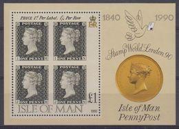 Isle Of Man 1990 Penny Black M/s **  Mnh (43505F) - Man (Eiland)