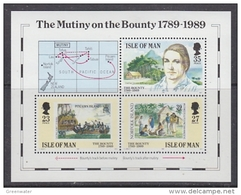 Isle Of  Man 1989 The Mutiny On The Bounty  M/s ** Mnh  (43505E) - Man (Eiland)