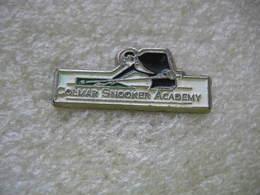 Pin's Du Colmar Snooker Academy. Billard - Billiards