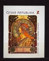 Czech Republic 2010 MNH ** Mi 634 Sc 3455 Alfons Mucha – Z Stamp Of The Booklet. Poster Zodiac. Tschechische Republik. - Czech Republic