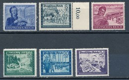 Deutsches Reich 1944 Mi. 888 - 893 Postfr. Post Postkutsche Briefzustellerin - Post