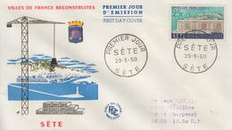 Enveloppe  FDC  1er  Jour   FRANCE   SETE   1958 - 1950-1959