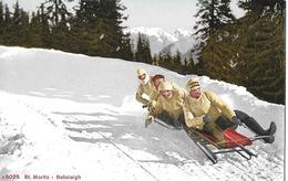 ST.MORITZ → Bobsleigh, 4er Bob In Voller Fahrt, Ca.1920 - GR Grisons
