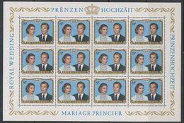 Luxemburg 1981 Royal Wedding 1v Sheetlet ** Mnh (F7869) - Blokken & Velletjes