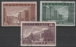 RUSSIA - 1939 Buildings. Scott 706, 707, 708. Used - 1923-1991 USSR