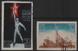 RUSSIA - 1939 IMPERF  New York World's Fair. Scott 714-715. Used - 1923-1991 USSR