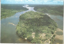 CPM Guyane Maroni Vue Aérienne De L'Ile De Langa Tabiki - Guyane