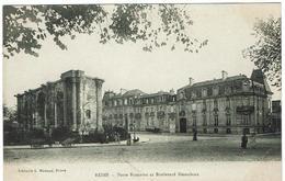 CPA - 51 - REIMS - Porte Romane Et Boulevard Desaubeau - - Reims