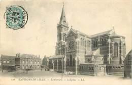 59 - Lambersart - L'Eglise - Oblitération Ronde De 1907 - Voir Scans Recto-Verso - Lambersart