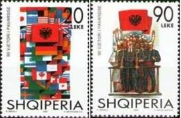 Albania Stamps 2002. 90 ANNIVERSARY OF INDIPENDENCE. Set MNH. - Albania