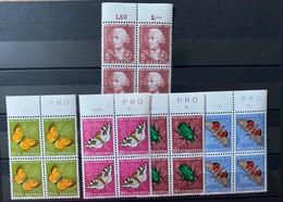 8829 - Série Pro Juventute 1957 Bloc De Quatre *** Neuf MNH Butterfly Papillons - Pro Juventute