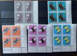 8831 - Série Pro Juventute 1950 Bloc De Quatre *** Neuf MNH Butterfly Papillons Coin De Feuille - Pro Juventute