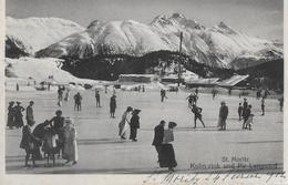 ST.MORITZ → Kulm-rink Mit Vielen Touristen Auf Der Eisbahn Anno 1912 - GR Grisons