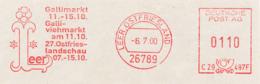 Freistempel 0394 Leer Gallimrkt Viehmarkt - Marcophilie - EMA (Empreintes Machines)