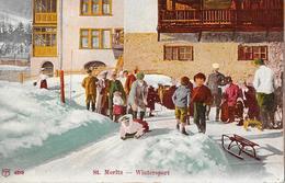 ST.MORITZ → Wintersport Mit Vielen Touristen Anno 1916 - GR Grisons