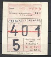 Hungary, Bekescsaba, Monthly Bus Ticket, '70s. - Week-en Maandabonnementen
