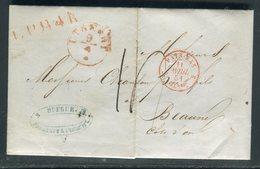 Pays Bas - Lettre ( Avec Texte ) De Utrecht Pour La France En 1851 - Prix Fixe - Réf JJ 178 - Nederland