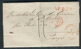 Pays Bas - Lettre ( Avec Texte ) Pour La France En 1849 - Prix Fixe - Réf JJ 179 - Nederland