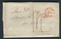 Pays Bas - Lettre ( Avec Texte ) De Gravenhage Pour La France En 1849 - Prix Fixe - Réf JJ 181 - Nederland