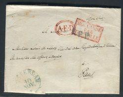 Pays Bas - Lettre ( Avec Texte ) En PP De Amsterdam Pour La France En 1834 , Voir Cachets - Prix Fixe - Réf JJ 184 - Nederland