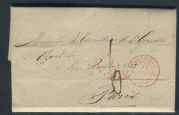 Pays Bas - Lettre ( Avec Texte ) Pour La France En 1852 - Prix Fixe - Réf JJ 185 - Nederland