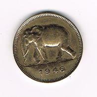 //   BELGISCH CONGO - CONGO  BELGE  2 FRANCS  LEOPOLD III   1946 - Congo (Belge) & Ruanda-Urundi