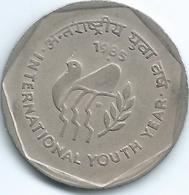 India - 1985 - 1 Rupee - Youth Year - KM80 - India