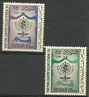 Sudan - 1962 Malaria Eradication  MLH *  SG 167-8  Sc 142-3 - Sudan (1954-...)