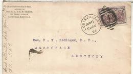 ESTADOS UNIDOS 1894 LOUISVILLE CC SELLO COLON COLUMBUS EN AMERICA - Cristóbal Colón