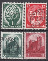 DR 544-547, Gestempelt, Saarabstimmung, Reichsparteitag1934 - Oblitérés