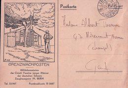 Armée Suisse Aux Frontières, Grenzwachposten, Illustrateur FF. (7455) 10x15 - Guerre 1914-18