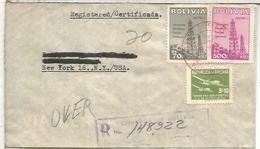 BOLIVIA CC CERTIFICADA SELLOS PETROLEO TELECOM OIL  PETROL - Petróleo