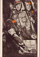 SS-Panzergrenadiere - Postkarte Aus Der Reihe: Deutsche Künstler Und Die SS - 1939-45