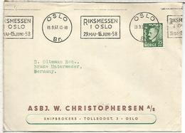 NORUEGA OSLO 1957 MAT RIKMESSEN I OSLO - Noruega
