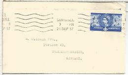 REINO UNIDO CORNWALL CC SELLO SCOUT JAMBOREE 1957 - Movimiento Scout